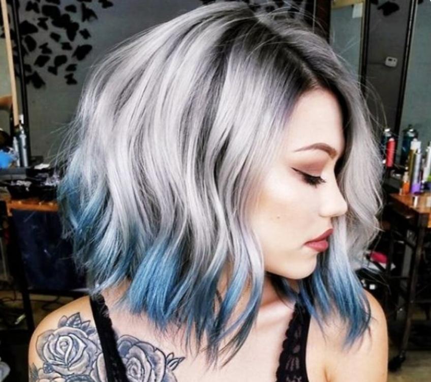 dip dye hair coloration tendance fashion week