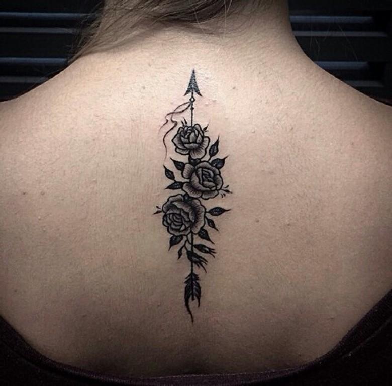 Tatouage dos - Tatouage fleur dos ...