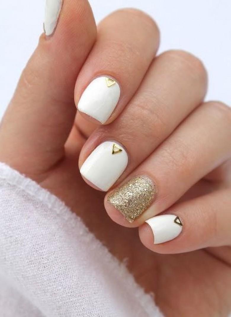 nail art blanc