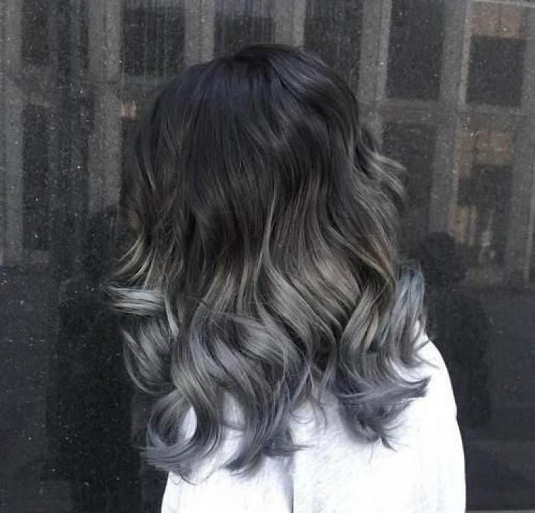 Cheveux ombre gris
