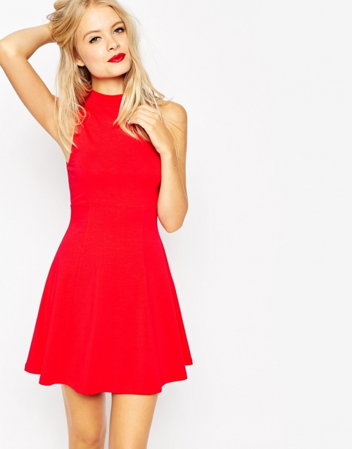 Robe rouge fete noel
