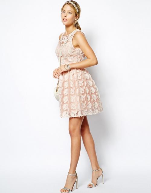 Asos robe de soiree rose
