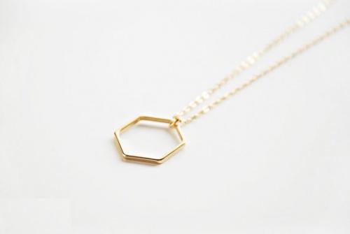 BoutiqueMinimaliste - Collier or géométrique