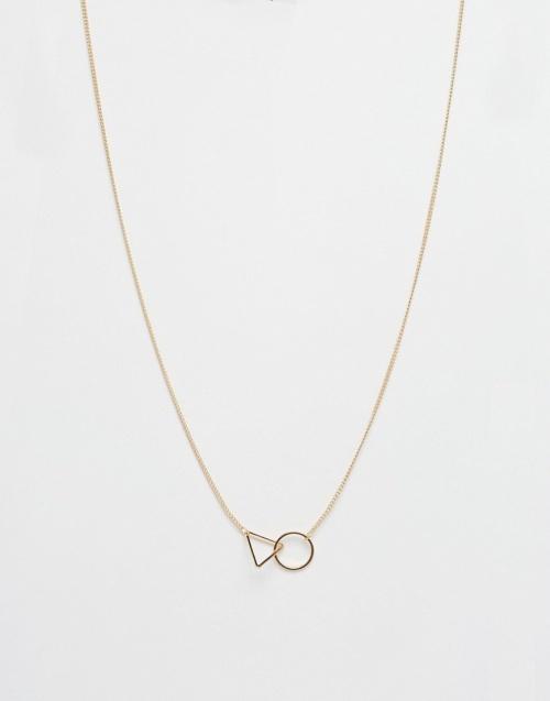 Asos - Collier géométrique triangle cercle