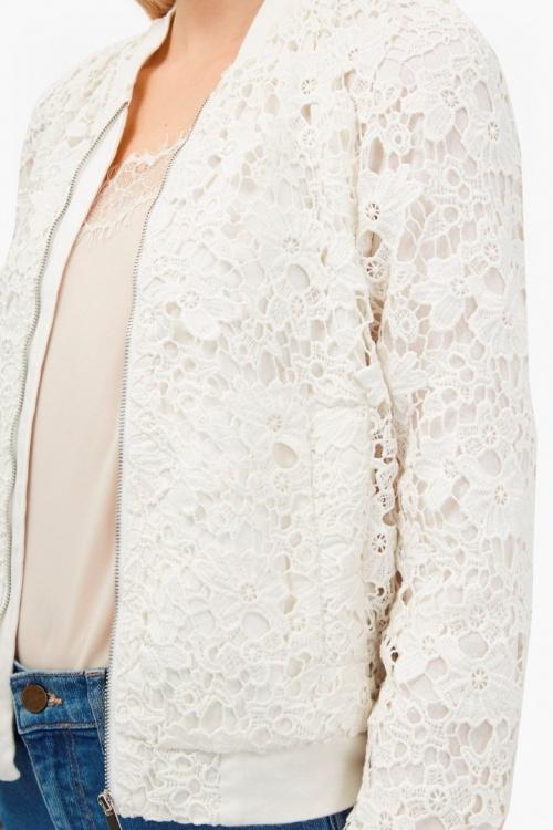 Veste femme dentelle blanche