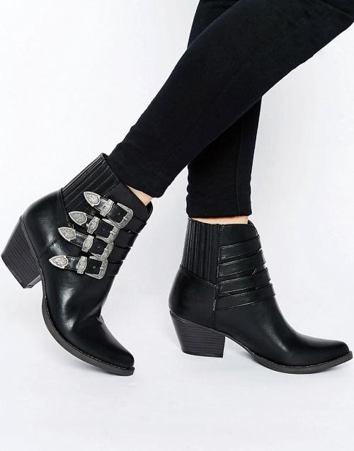 Asos - Boots boucles ceinture