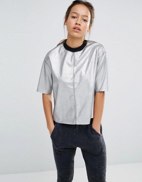 Converse - T-shirt métalissé