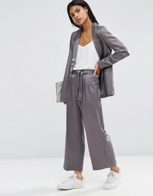 Asos jupe culotte satin façon pijama