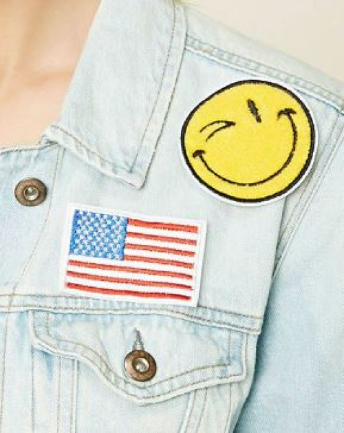 Forever 21 - écussons drapeau et smiley
