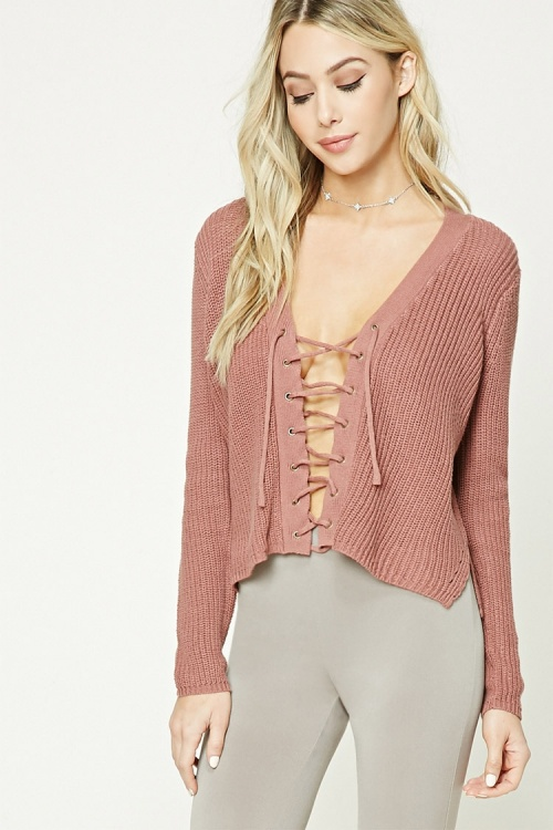 Forever 21 - Pull vieux  rose