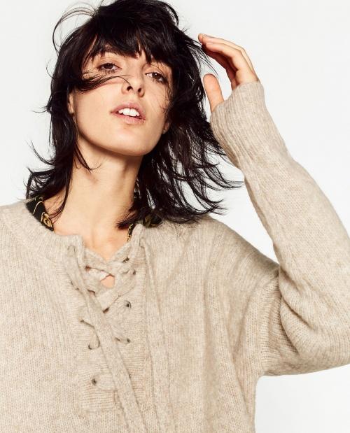 Zara - Pull beige écru