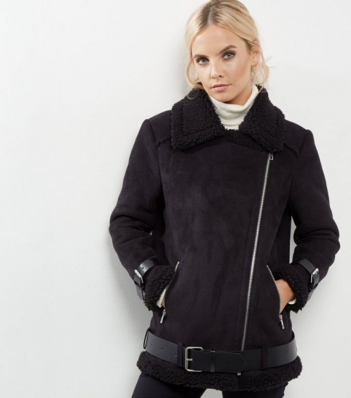 New Look - shearling noir