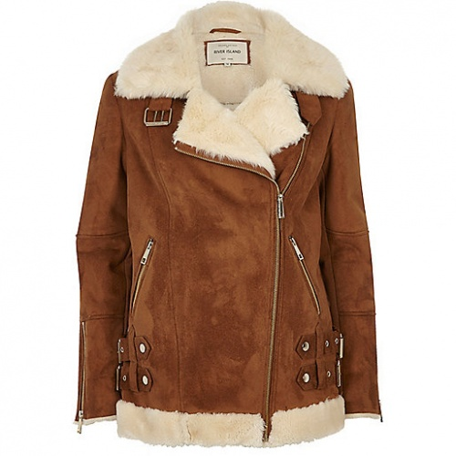 River Island - shearling camel