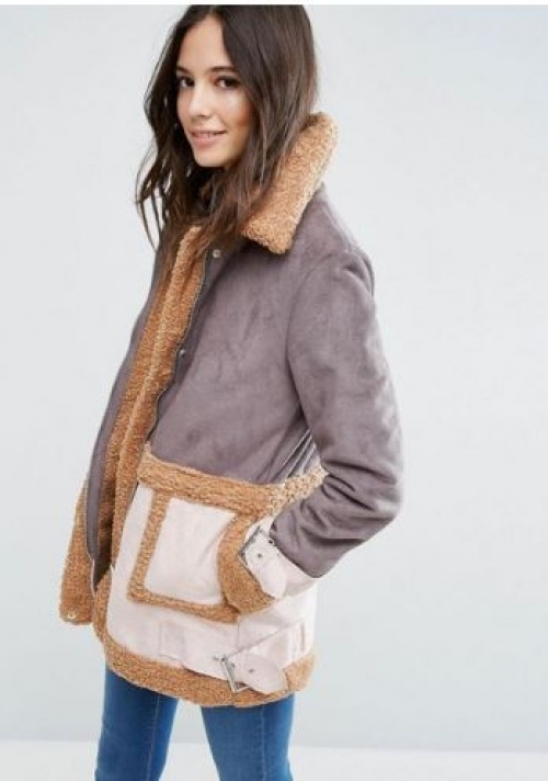 Asos - shearling patchwork