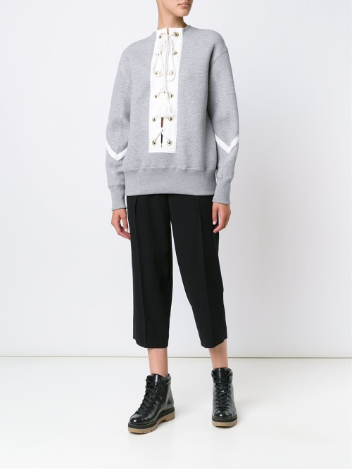 SACAI - Pull sweat gris