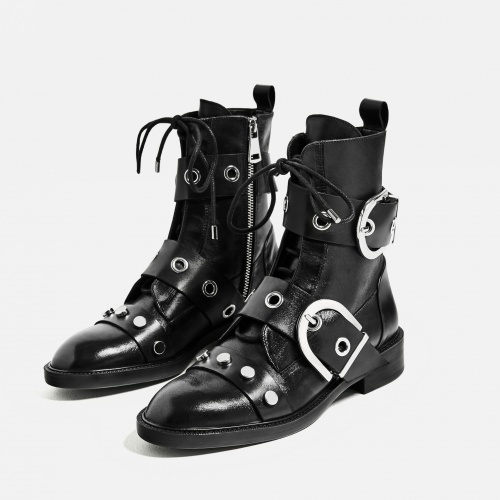 Zara - Bottines plates