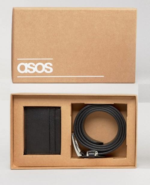 ASOS - Coffret ceinture et porte-cartes