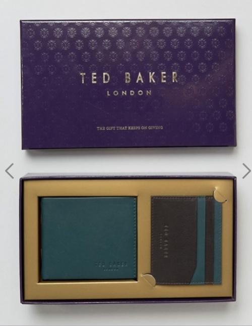 Ted Baker - Coffret portefeuille porte-cartes