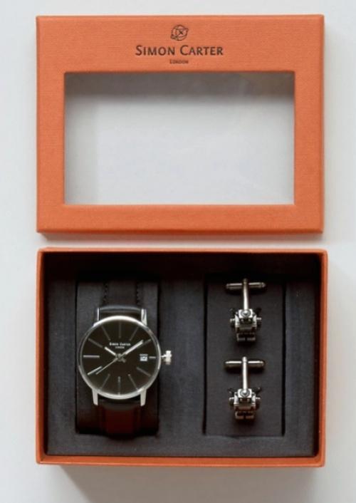 Simon Carter - Coffret montre et boutons de manchette