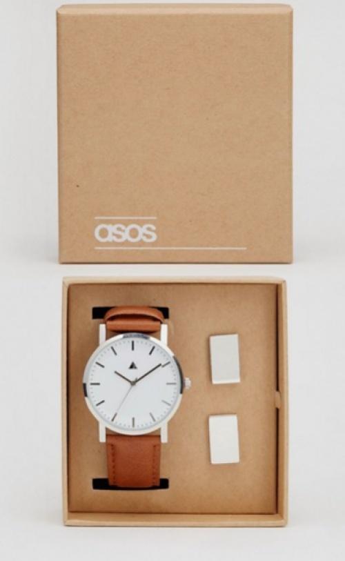 ASOS - Coffret montre et boutons de manchette