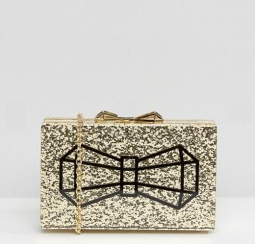 Ted Baker - Pochette rigide avec noeud et éclat doré