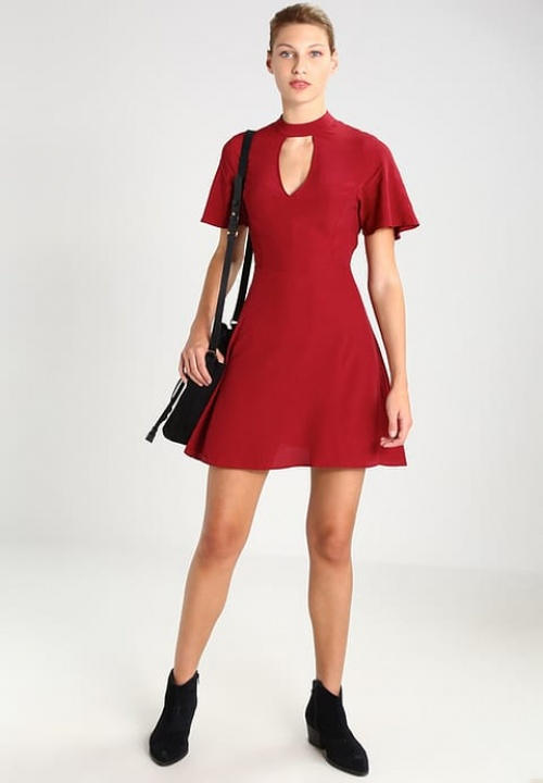 Miss Selfridge - Robe burgundy