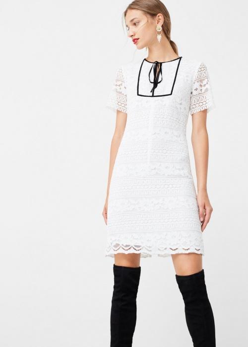 Robe blanche sandro dos dentelle
