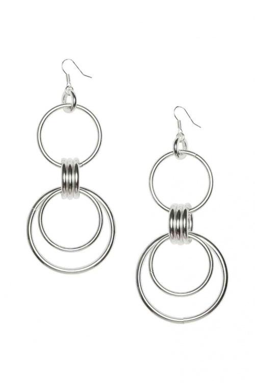 H&M - boucles d'oreilles longues anneaux