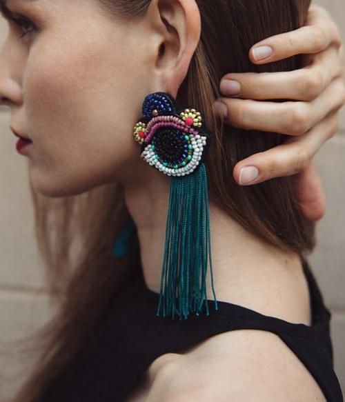Malvine LV - boucles d'oreilles oeil handmade