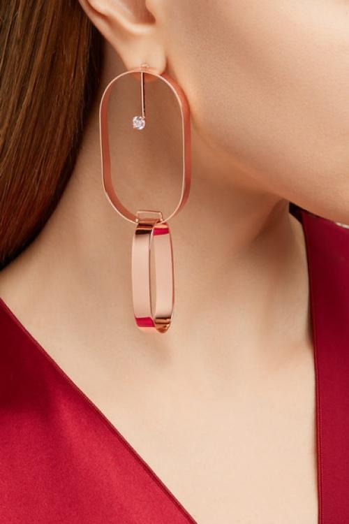 Maison Margiela - boucles d'oreilles or rose
