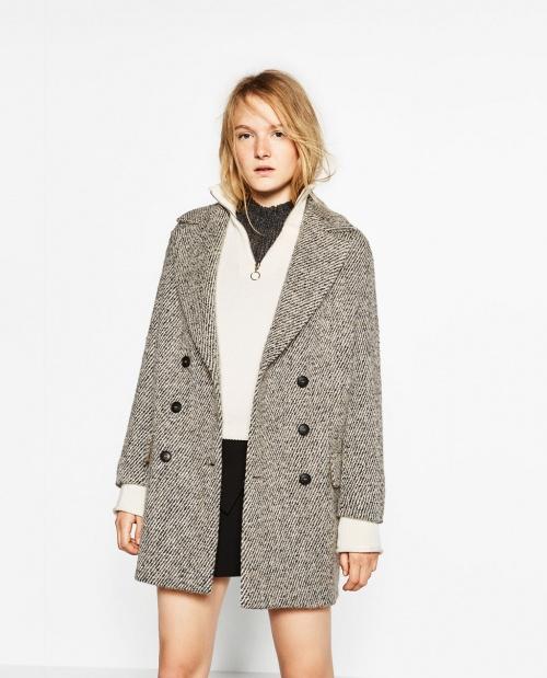 Manteau à deux rangées de boutons