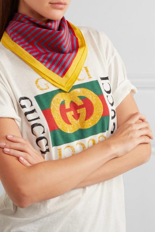 Fendi - foulard à rayures