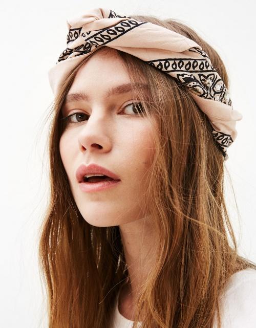 Bershka - foulard bandana brodé de strass