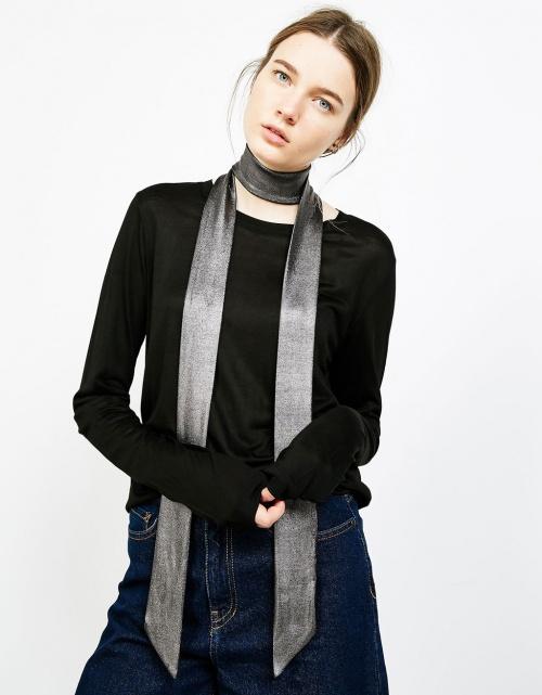 Bershka - foulard cravate métallisé