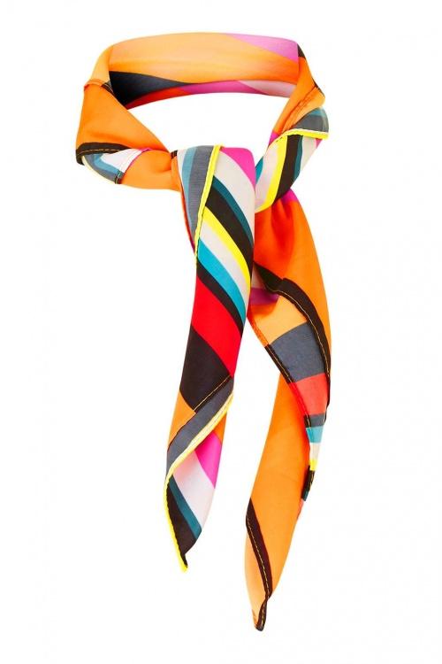 Topshop - foulard à rayures multicolores