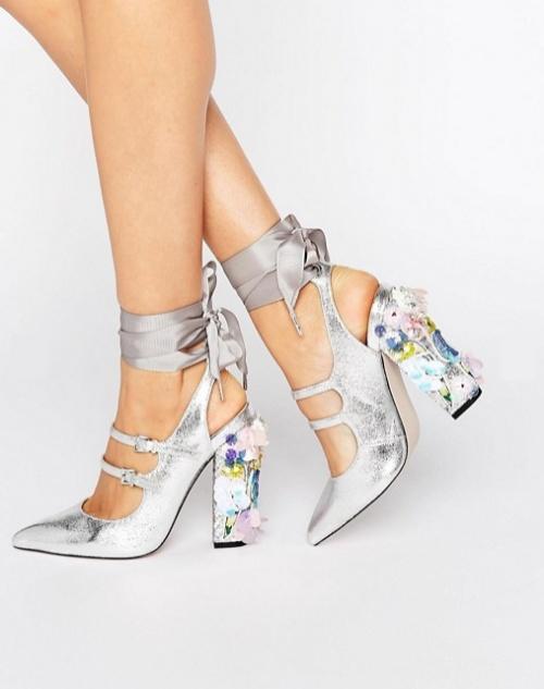 ASOS - PETROLEUM - Chaussures ornementées à talons et bout pointu