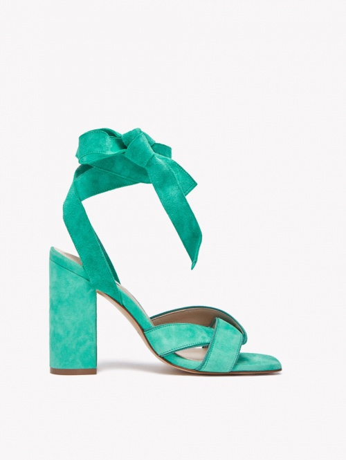 SANDALE LACE UP TURQUOISE