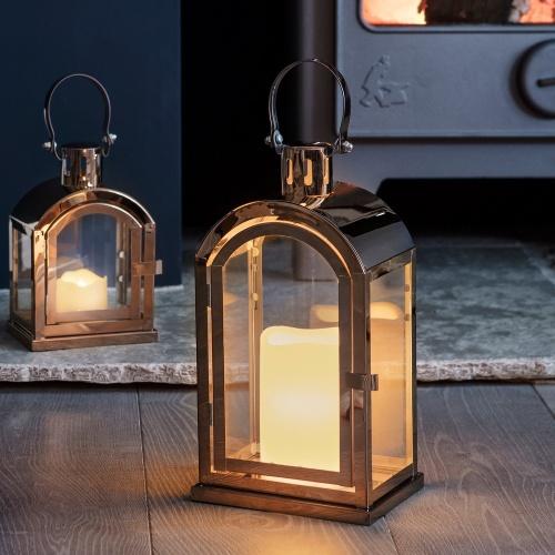 Lights 4 Fun - Lanterne en cuivre