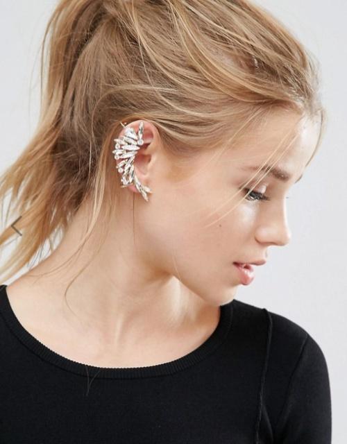 Orelia - Grand bijou d'oreille avec cristaux