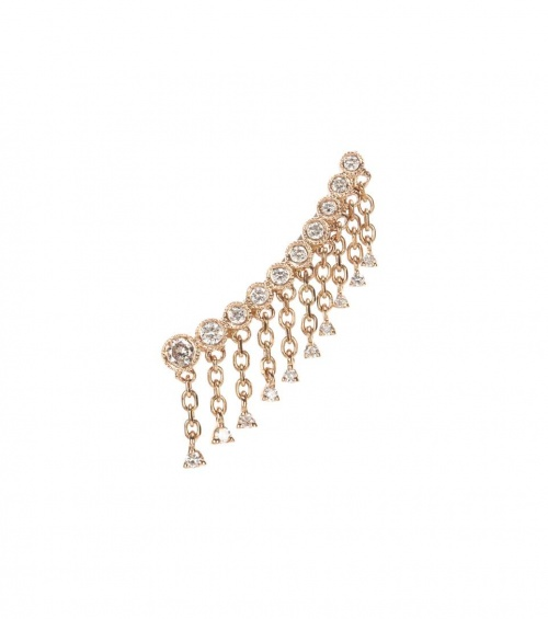 STONE PARIS Boucle d'oreille unique en or rose 18 ct et diamants Talitha