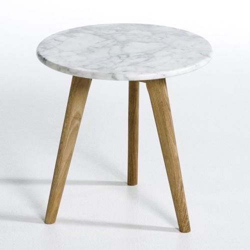 Bout de canapé Priscille, plateau marbre