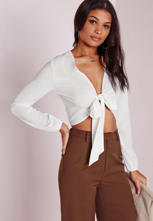 Missguided - Top à nouer