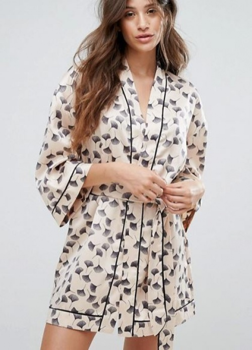 Y.A.S - Kimono à imprimé feuille