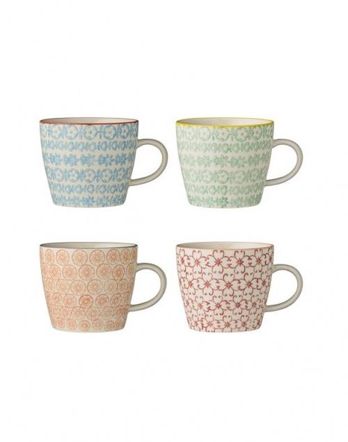 Bloomingville - Lot de 4 mugs