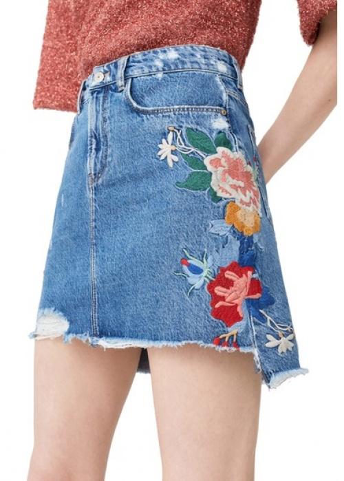 Джинсовые юбки с вышивкой 2018 1
