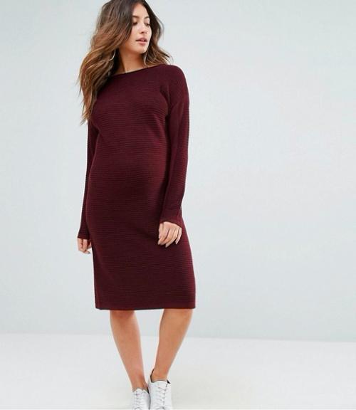 Asos - Robe de maternité à manches longues