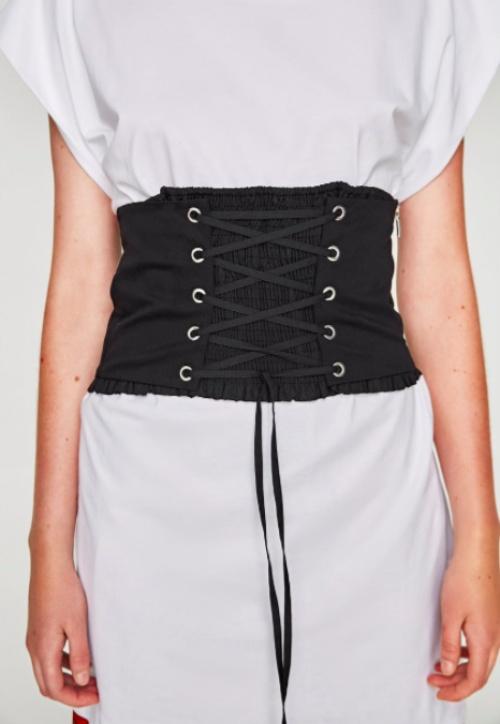 Zara - Corset avec lacet et élastique