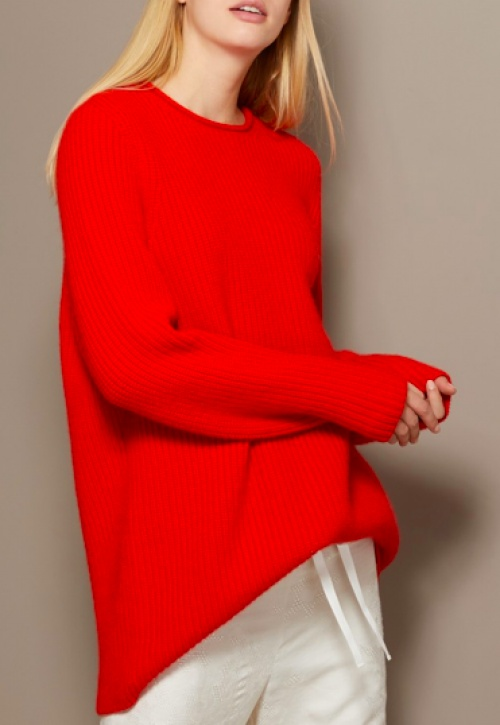 The Row - Pull rouge en cachemire