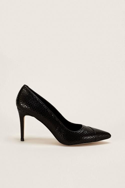 70/30 - Escarpins en cuir noir