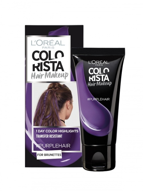 L'Oréal Paris - Colorista Hair Makeup - #PurpleHair